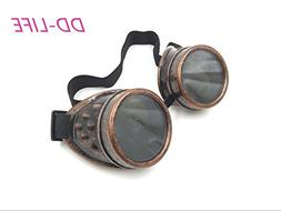 New Sell Vintage Steampunk Goggles Glasses Welding Cyber Pun