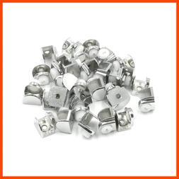 Semi Circular Metal Glass Shelf Clamp Bracket Holder Fall Pr