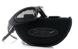 Wiley X SG-1 Goggles, Smoke Grey/Clear, V Cut/Matte Black