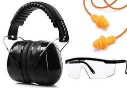 Shooting and Construction Ear Muffs set, Ear Plugs and Anti-