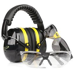 TRADESMART Shooting Earmuffs and Anti Fog Scratch Resistant