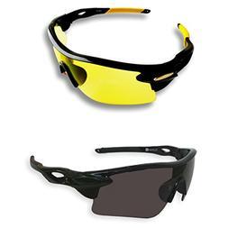 BEST Shooting Glasses UV Blacklight Flashlight Yellow Safety