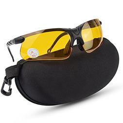 XAegis Shooting Glasses with Case, Polycarbonate Lens and Ru