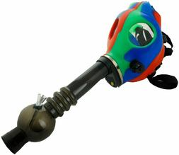 Silicon Gas Mask Bong Hookah Smoking Red Blue Green Mix Colo