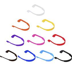 eBoot 12 Pieces Eyeglass Cord Glasses Strap Eyewear Retainer with Glasses Cloth