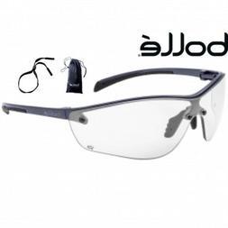 BOLLE SILIUM+ PLUS Clear Anti Scratch-Fog Lens Black Safety