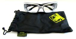 BODY GLOVE Silver/Black Safety Glasses 90412 Clear Full Fram