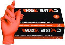 SKINTX CARE ON50005-S-BX Orange Nitrile Exam Gloves, Powder-