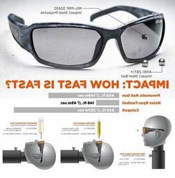Skullerz Dagr Polarized Safety Sunglasses- Black Frame, Smok