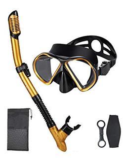 OMGear Snorkel Set Snorkeling Mask Dry Snorkel with Neoprene