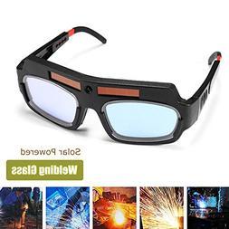 Wishlink Solar Powered Safety Goggles Auto Darkening Welding