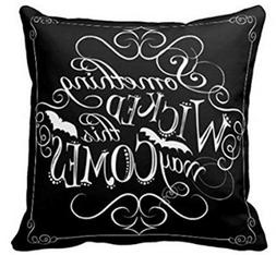 SJbaby Something Wicked Chalkboard Halloween Throw Pillow Co