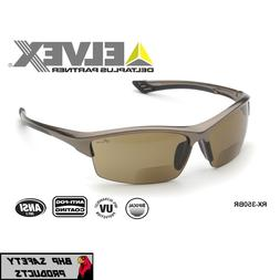 ELVEX SONOMA RX-350BR BIFOCAL SAFETY GLASSES BROWN ANTI-FOG