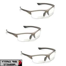 ELVEX SONOMA RX-350C BIFOCAL SAFETY GLASSES CLEAR ANTI-FOG L
