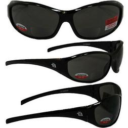 SPARROW BIFOCAL SAFETY GLASSES BY BIRDZ - BLACK FRAMES 2.0 S