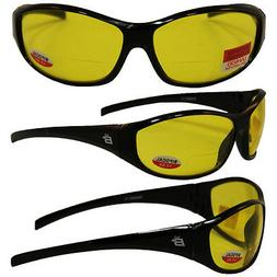 SPARROW BIFOCAL SAFETY GLASSES BY BIRDZ - BLACK FRAMES 1.0 Y