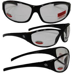SPARROW BIFOCAL SAFETY GLASSES BY BIRDZ - BLACK FRAMES 2.0 C