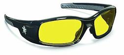 MCR Safety SR114 Swagger Safety Glasses, Black Frame with Am