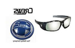 Crews SR117 MCR Swagger Safety Glasses BLACK FRAME Silver Mi