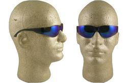 Starlite SM Safety Glasses - Gray Temple - Blue Mirror Lens