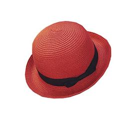 Straw Hat for Women with Beaded Trim and Shapeable Brim