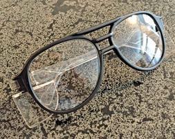 Stylish Vintage Black Frame Aviator Safety Glasses Aearo Saf
