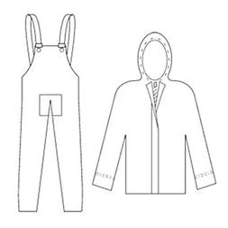 2 Piece suit, jacket with an attached hood, inner sleeve and