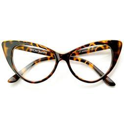 zeroUV - Super Cat Eye Glasses Vintage Inspired Mod Fashion