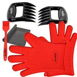 Superior Value Set: Silicone BBQ/Cooking Gloves Plus Grill M