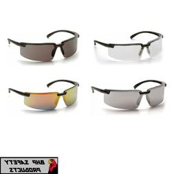 PYRAMEX SURVEYOR SAFETY GLASSES BLACK FRAME WORK EYEWEAR CHO