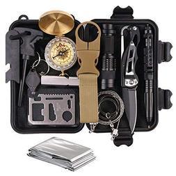 Survival Gear Kits 13 in 1- Outdoor Emergency SOS Survive To