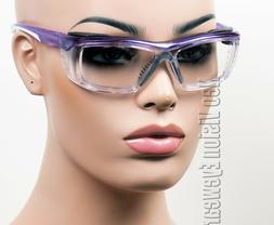 ERB Susan Purple Clear Wrap Safety Glasses Foam Padded Women