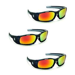 Crews Swagger Fire Mirror Lens Safety Glasses Sunglasses Z87