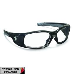 Swagger Safety Glasses, Black Frame, Clear Lens