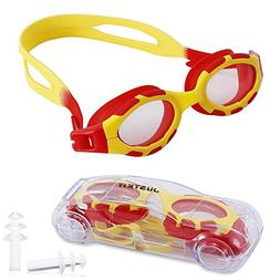 JUSTKIT Kids Swim Goggles, Swimming Goggles No Leaking Anti