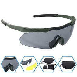 XAegis Tactical Eyewear 3 Interchangeable Lenses, Outdoor An