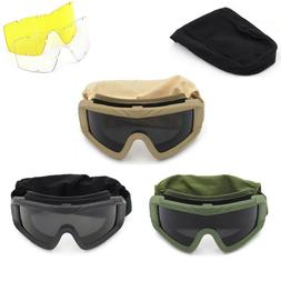 Tactical Safety Goggles Military Shooting Hunting Glasses 3