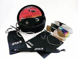 NATO Tactical Safety Shoot Range Glasses UV400 5 Lens Protec