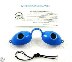 Tanning Bed Eyewear Sunnies Goggles protection BLUE