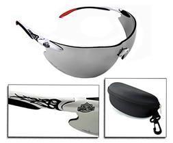 Harley-Davidson 3 Pc Tinted Mirror Safety Glasses w/ Cord &