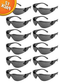 Tinted Safety Glasses, One Size, Anti-Scratch, Impact Resist