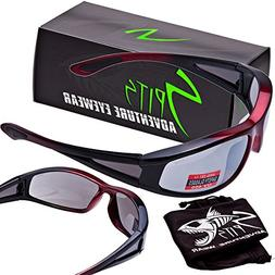 Spits Titan Integrity Safety Glasses - Red Frame - Gray Flas