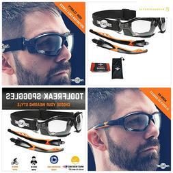 ToolFreak Spoggles Safety Glasses for Work Sport, ANSI Z87 R