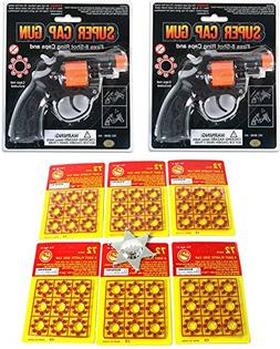 Toy Cap Gun: Set Of 2 Police Style 38 Super Cap 8-Shot Revol