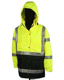 Safety Depot Two Tone Lime Yellow Black Reflective Class 3 S