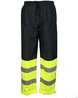 Safety Depot Two Tone Lime Yellow Black Reflective Class E S