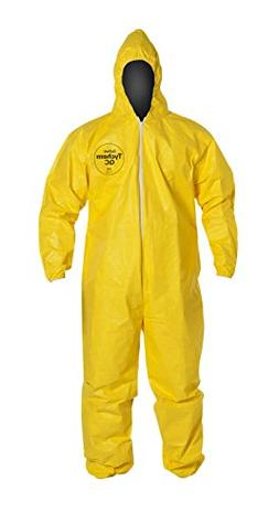 DuPont Tychem QC QC127S Protective Fabric Coverall with Hood