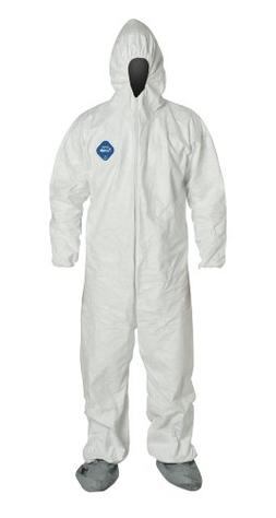 DuPont Tyvek TY122S  Disposable Coverall with Hood and Boots