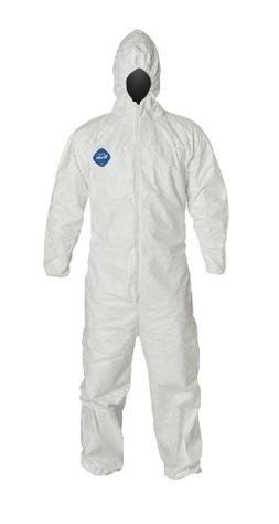 DuPont Tyvek TY127S  Disposable Coverall with Hood, Elastic