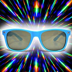 GloFX Ultimate Diffraction Sunglasses - Blue Tinted Rave Gla